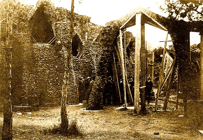 Colonia Güell / Construction / Work under construction around 1911
