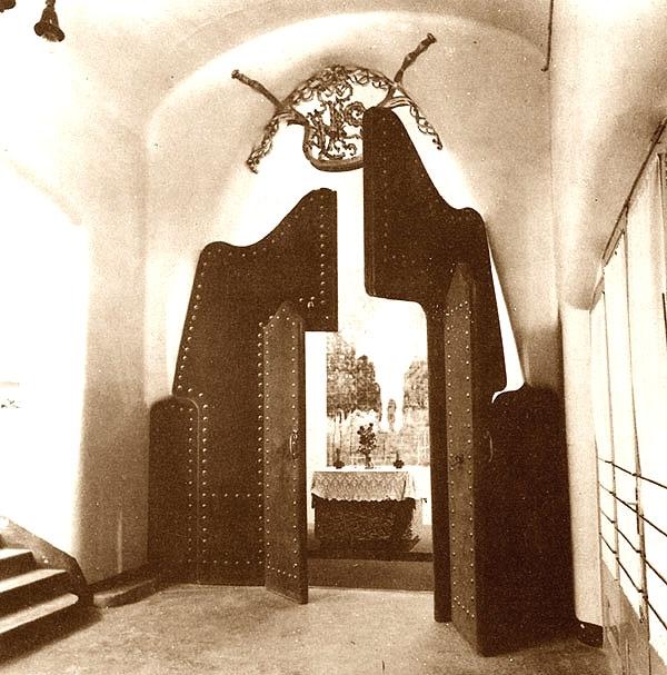 Park Güell / Album / Biombo creado por Gaudí – Foto de la época